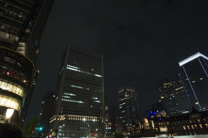 東京駅 丸の内 夜景